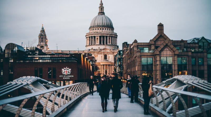 People in London.