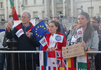 In pictures: campaigners rally in London