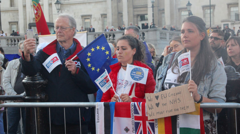 Campaigners rally in Trafalgar Square