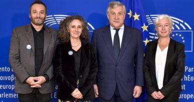EU citizens meeting European parliament president.