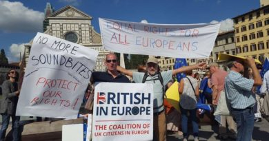 British in Europe demonstration in Florence.