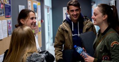 Erasmus students at Sofia university.