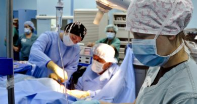 Surgery, medical care.