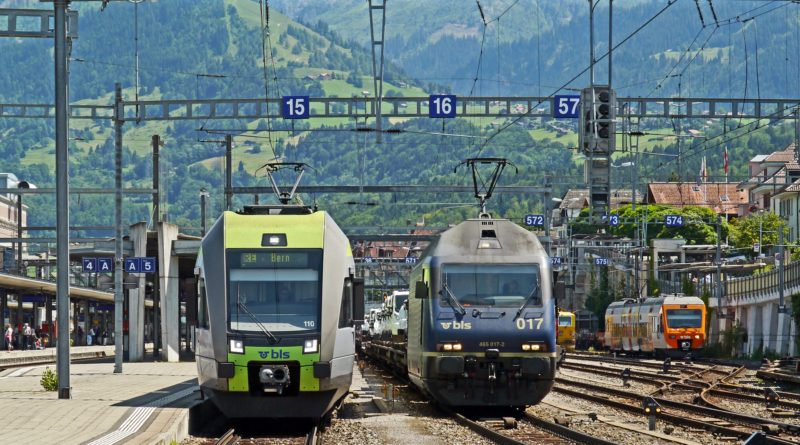 Free Interrail pass: image of trains in Switzerland