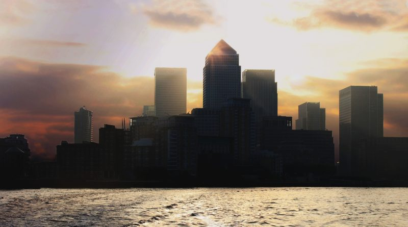 London's Canary Wharf.