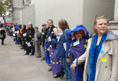 Human chain in Westminster to end uncertainty over post-Brexit rights