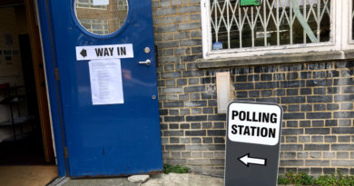 Polling station in London: many were denied a vote.