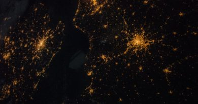 Northern Europe seen from space.
