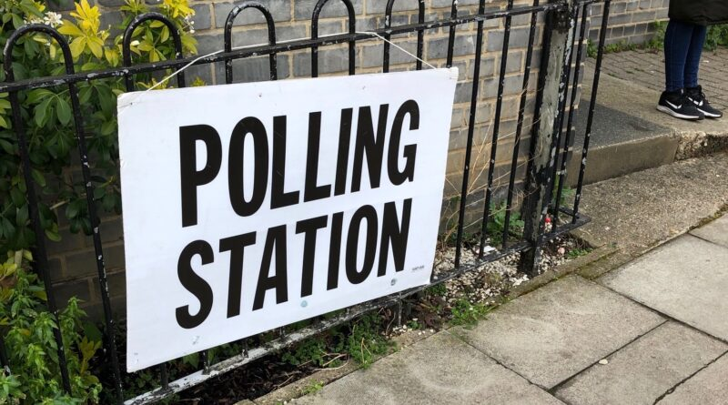 Polling station - voting in UK