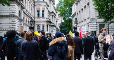 Voters protest Downing Street